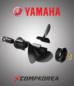 XCOMP YAMAHA  D 50~130 HP Set + Hub Kit Blade Replaceable Propeller for Outboard