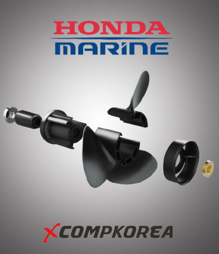 XCOMP HONDA C 35~50 HP Set + Hub Kit Blade Replaceable Propeller for Outboard