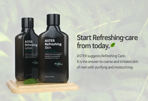ASTER Refreshing Men's Skin and Lotion
