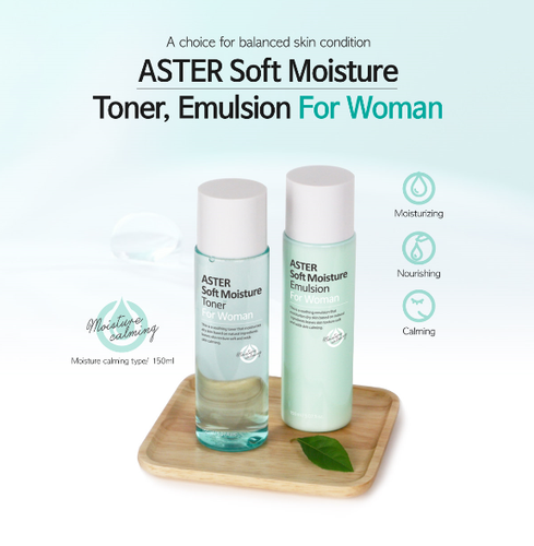 ASTER Soft Moisture Toner and Emulsion