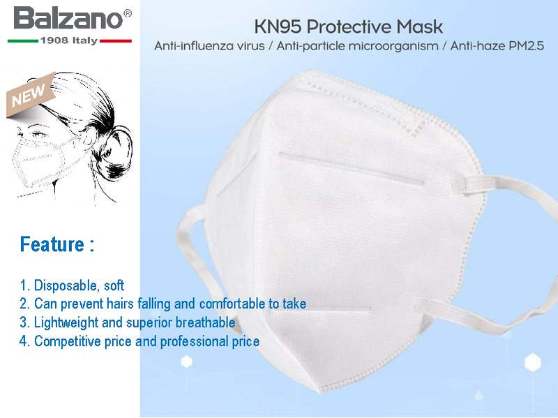 Balzano KN95 FFP2 EAR-LOOP Mask PM2.5 4-Layer