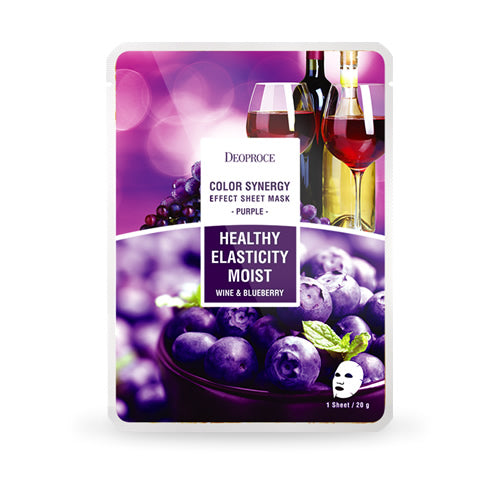 Color Synergy Effect Sheet Mask Purple 20g / 10 sheets - Dotrade Express. Trusted Korea Manufacturers. Find the best Korean Brands