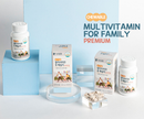 HANMI NATURAL NUTRITION CHEWABLE PREMIUM Multi-Vitamin For Family 1,000mg x 60 Tablets