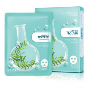 RAPPOL Cica Renew Teatree Mask Sheets - Pack of 5