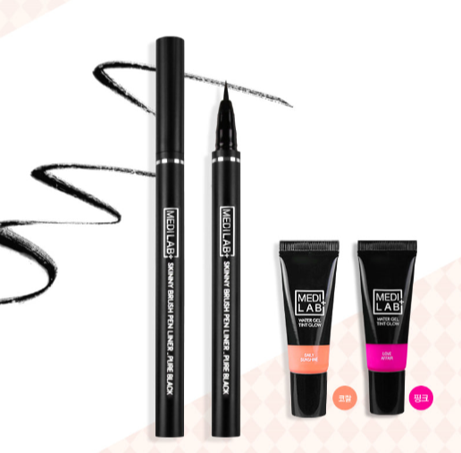 DAYCELL Medi Lab Set - Pen Liner in Pure Black, Gel Lip Tint in Love Affair - Dotrade Express. Trusted Korea Manufacturers. Find the best Korean Brands
