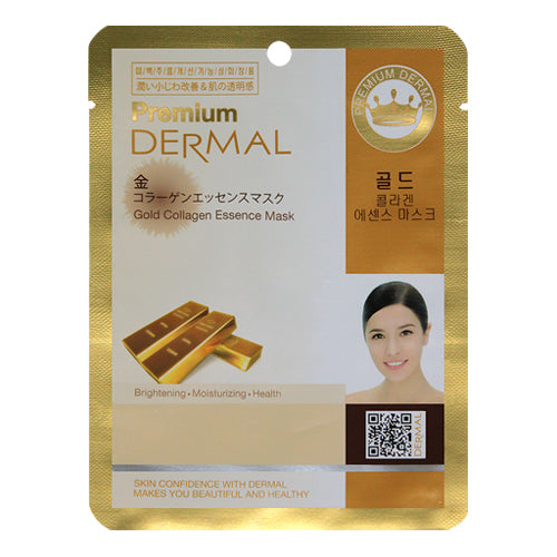 DERMAL Premium Gold Collagen Essence Mask 10 Pieces