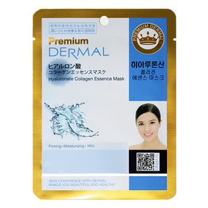 DERMAL Premium Hyaluronate Collagen Essence Mask 10 Pieces