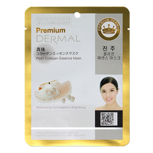 DERMAL Premium Pearl Collagen Essence Mask 10 Pieces