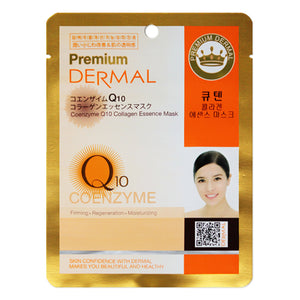 DERMAL Premium Q10 Collagen Essence Mask 10 Pieces