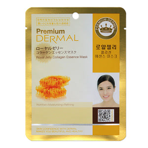 DERMAL Premium Royal Jelly Collagen Essence Mask 10 Pieces