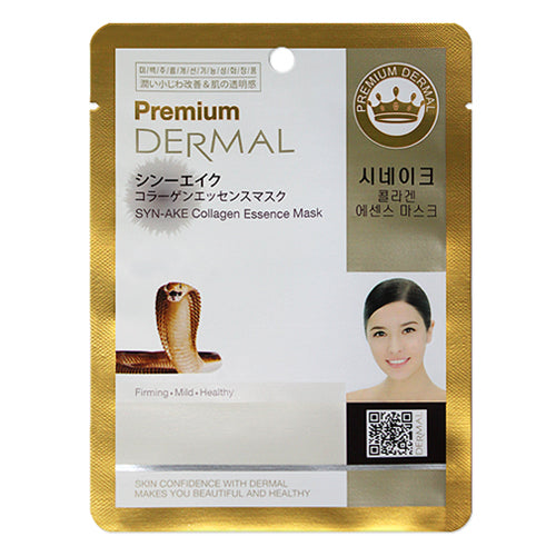 DERMAL Premium Syn-Ake Collagen Essence Mask 10 Pieces
