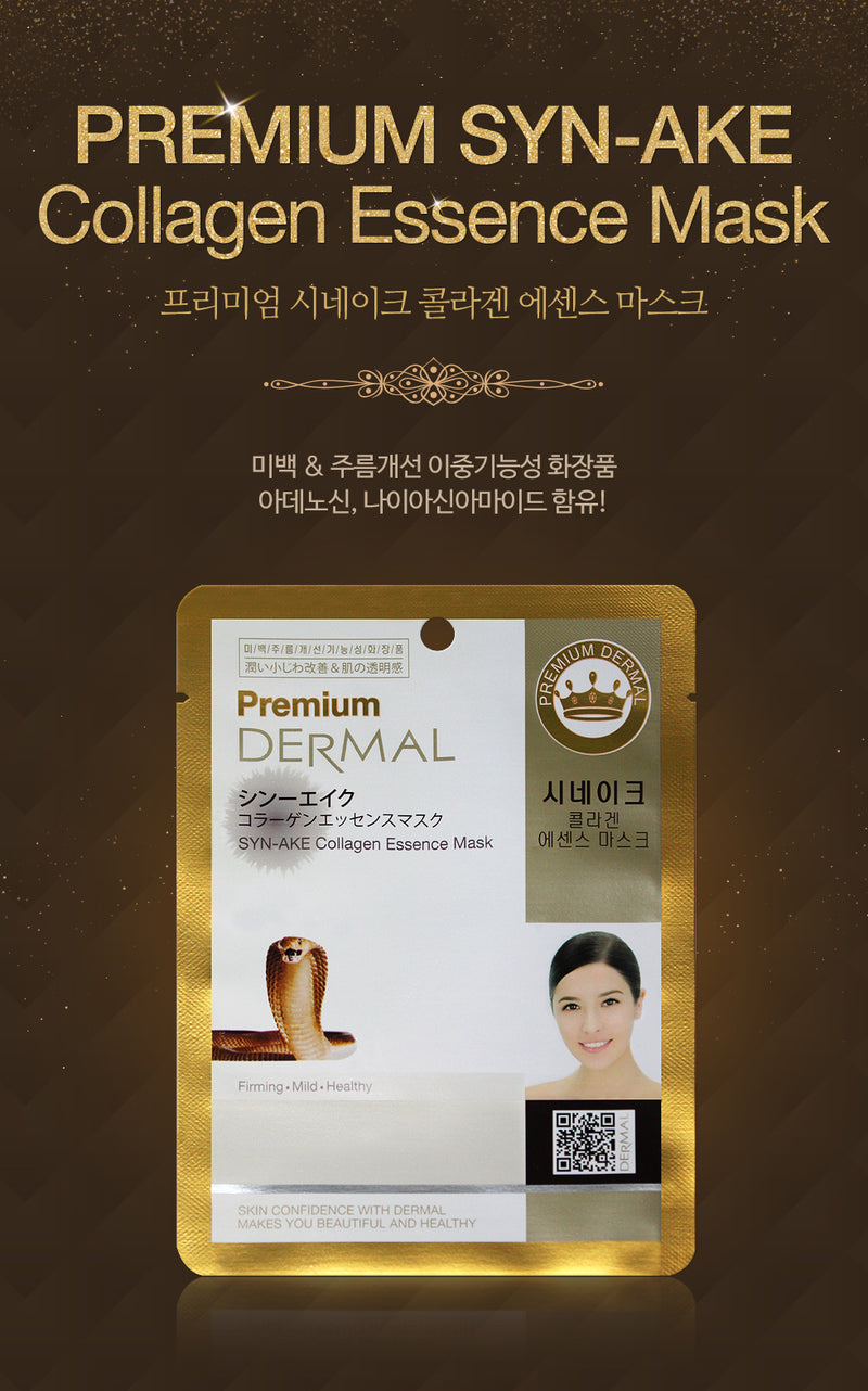DERMAL Premium Syn-Ake Collagen Essence Mask 10 Pieces - Dotrade Express. Trusted Korea Manufacturers. Find the best Korean Brands
