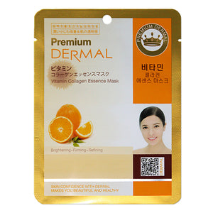 DERMAL Premium Vitamin Collagen Essence Mask 10 Pieces