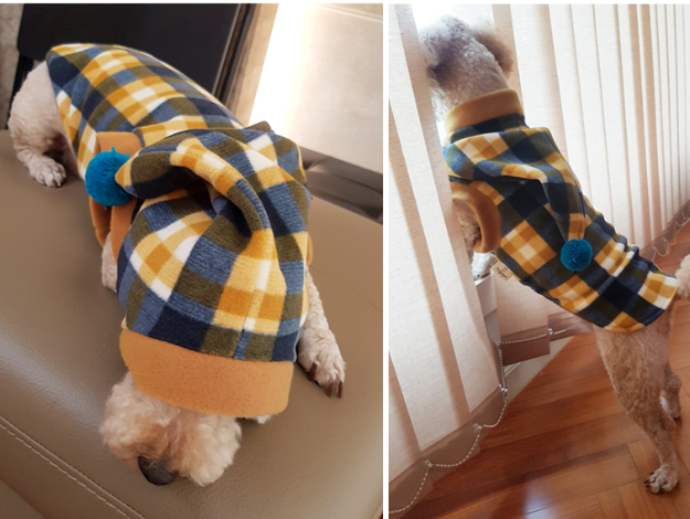 DOGMOM Check Long T-Shirt With Hood - Dotrade Express. Trusted Korea Manufacturers. Find the best Korean Brands