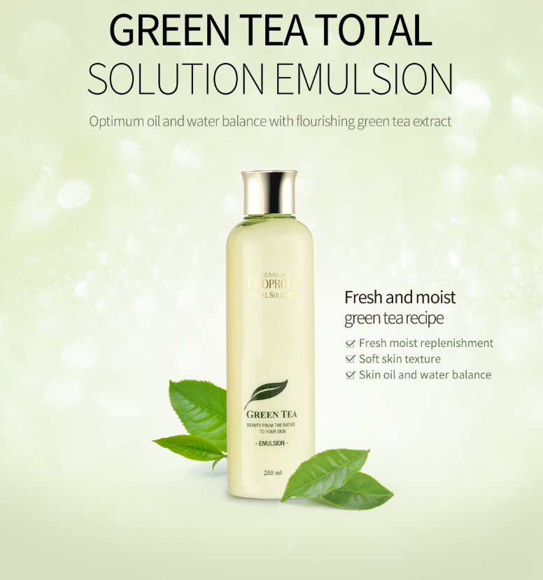 Premium Green Tea Total Solution Emulsion 260ml