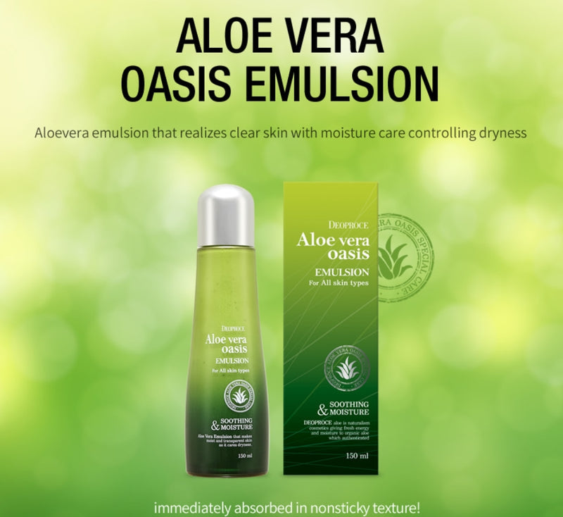 Aloe Vera Oasis Emulsion 150ml - Dotrade Express. Trusted Korea Manufacturers. Find the best Korean Brands