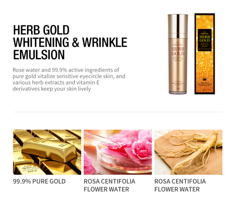 Herb Gold Whitening & Wrinkle Care Emulsion 135ml - Dotrade Express. Trusted Korea Manufacturers. Find the best Korean Brands