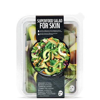 FARMSKIN Superfood Avocado Salad Face Mask Set (7 Sheets)