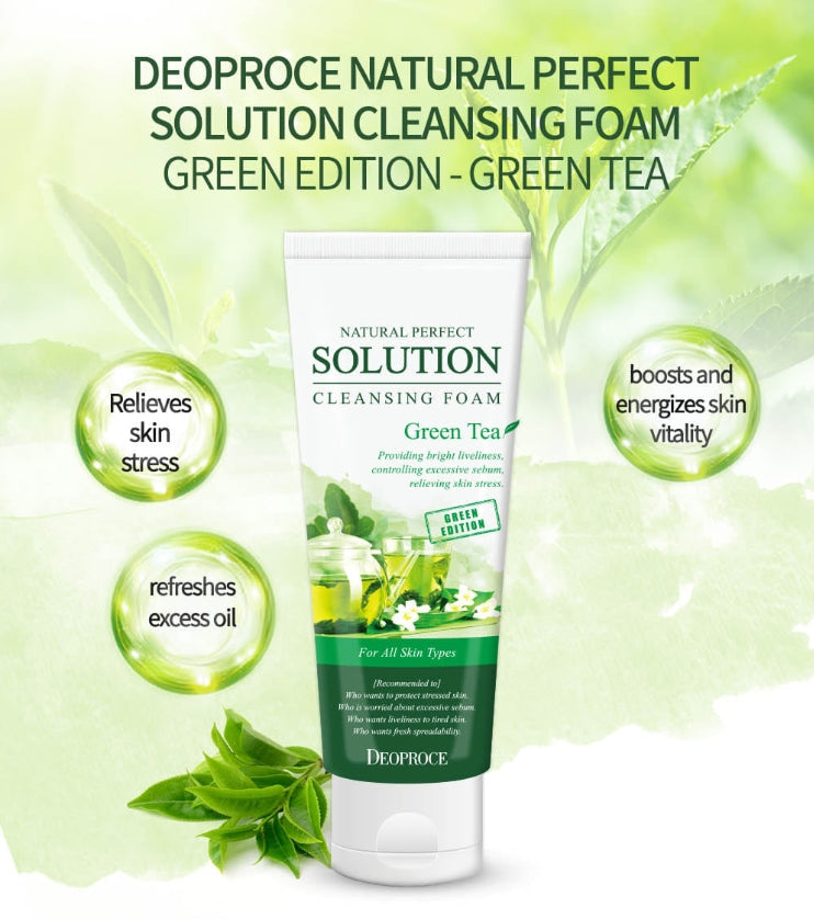 Natural Perfect Solution Cleansing Foam Green Tea 170g
