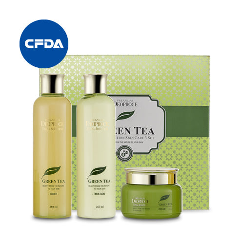 Premium Green Tea Total Solution Skin Care 3 Set