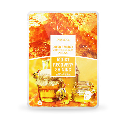 Color Synergy Effect Sheet Mask Yellow 20g / 10 sheets - Dotrade Express. Trusted Korea Manufacturers. Find the best Korean Brands