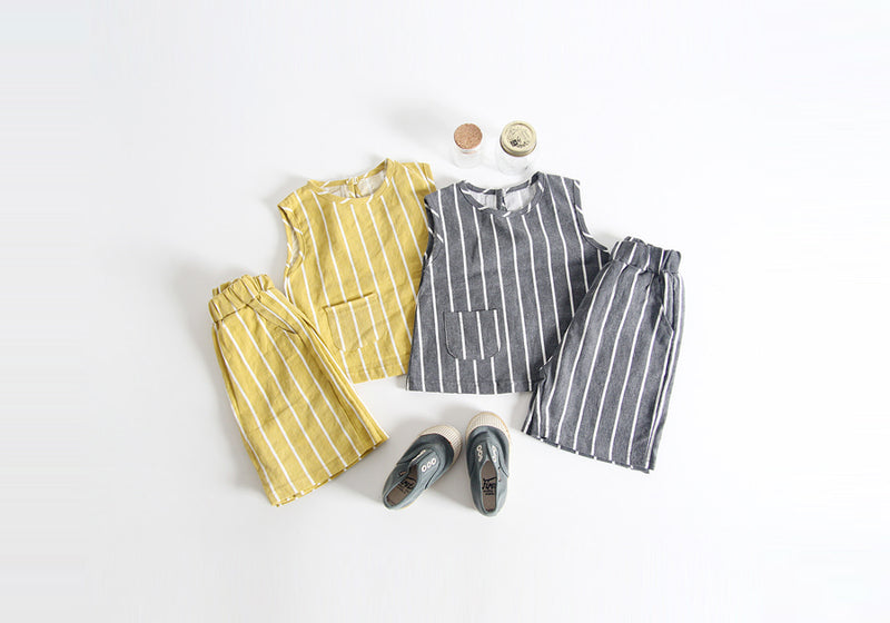 Children's Stripe Clothes Set - 2 Colors - Dotrade Express. Trusted Korea Manufacturers. Find the best Korean Brands