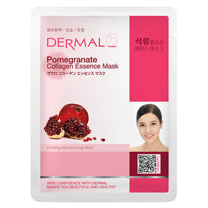 DERMAL Pomegranate Collagen Essence Mask 10 Pieces
