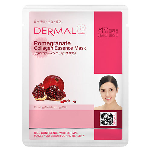 DERMAL Pomegranate Collagen Essence Mask 10 Pieces - Dotrade Express. Trusted Korea Manufacturers. Find the best Korean Brands