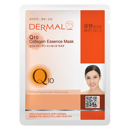 DERMAL Q10 Collagen Essence Mask 10 Pieces