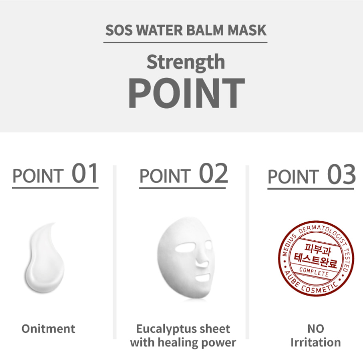 MEDIUS SOS water balm mask - Soothing care (5pcs)