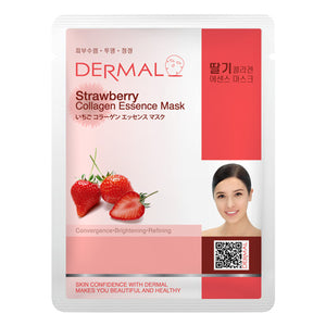 DERMAL Strawberry Collagen Essence Mask 10 Pieces