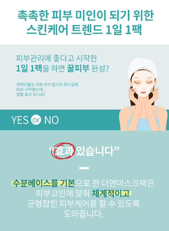 The YEON Everyday Natural Care Mask Sheet MILK [Smooth & Nutrition]