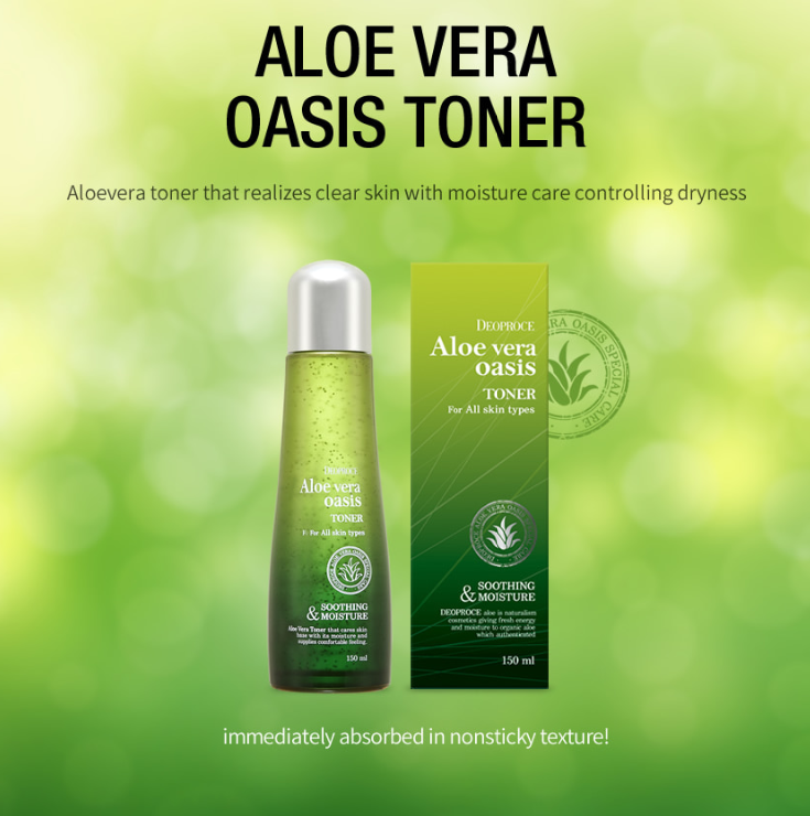 Aloe Vera Oasis Toner 150ml - Dotrade Express. Trusted Korea Manufacturers. Find the best Korean Brands