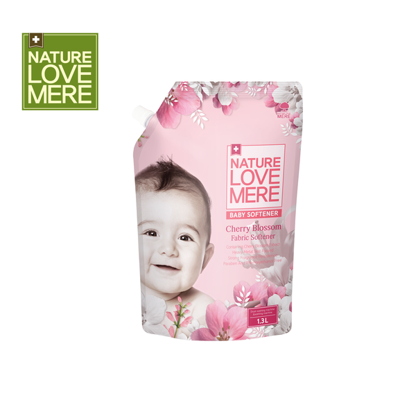 NATURE LOVE MERE Cherry Blossom Baby Fabric Softener Refill Type (1,300 ml)