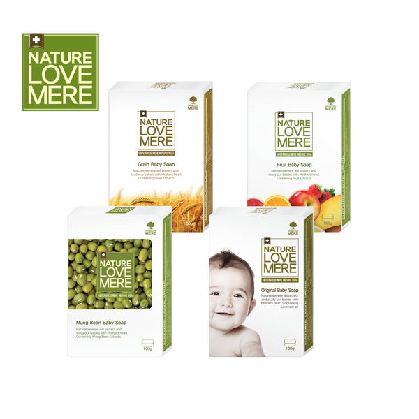NATURE LOVE MERE Baby Soap 100g 4types: Mung Bean/Fruit/Grain/Original