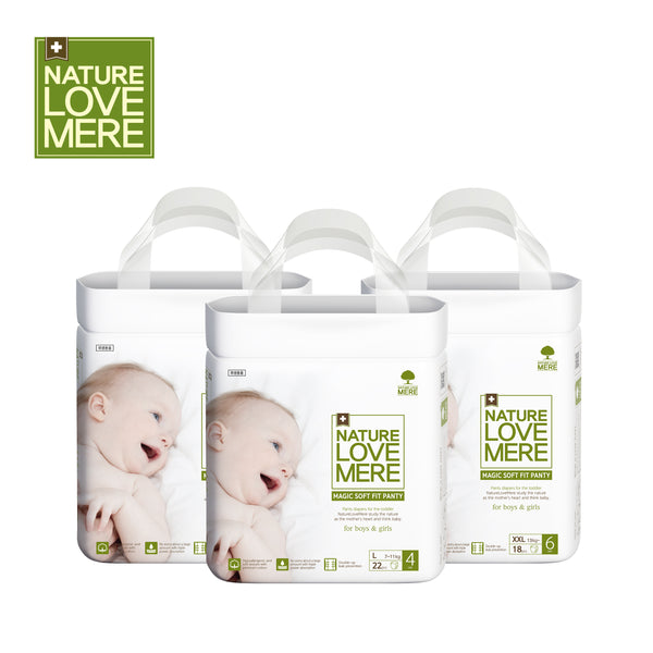 NATURE LOVE MERE Magic Soft Fit Panty Diaper(1Box: 4Packs) Size: L/XL/Jumbo