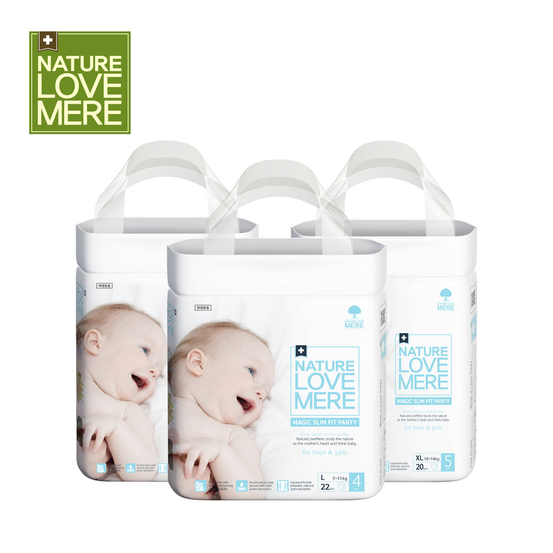 NATURE LOVE MERE Magic Slim Fit  Panty Diaper(1Box: 4Packs) Size: L/XL/Jumbo
