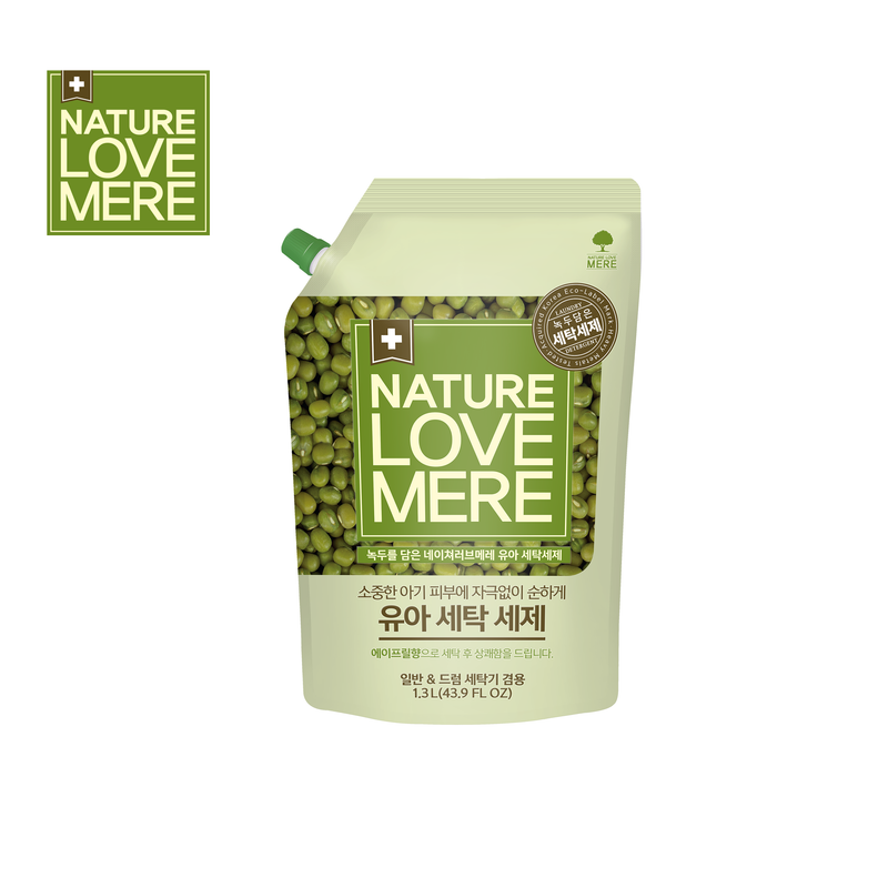 NATURE LOVE MERE Mungbean Baby Laundry Detergent Refill Type 1,300ml