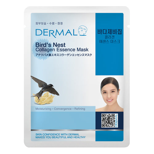 DERMAL Bird's Nest Collagen Essence Mask 10 Pieces - Dotrade Express. Trusted Korea Manufacturers. Find the best Korean Brands