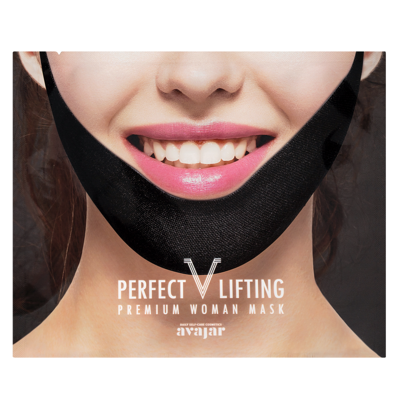 AVAJAR PERFECT V LIFTING PREMIUM WOMAN BLACK MASK (1EA) - Dotrade Express. Trusted Korea Manufacturers. Find the best Korean Brands