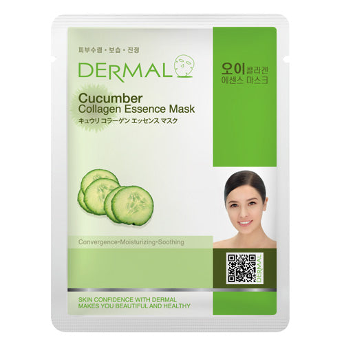 DERMAL Cucumber Collagen Essence Mask 10 Pieces - Dotrade Express. Trusted Korea Manufacturers. Find the best Korean Brands