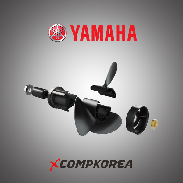 XCOMP YAMAHA E 150~250 HP Set + Hub Kit  Blade Replaceable Propeller for Outboard