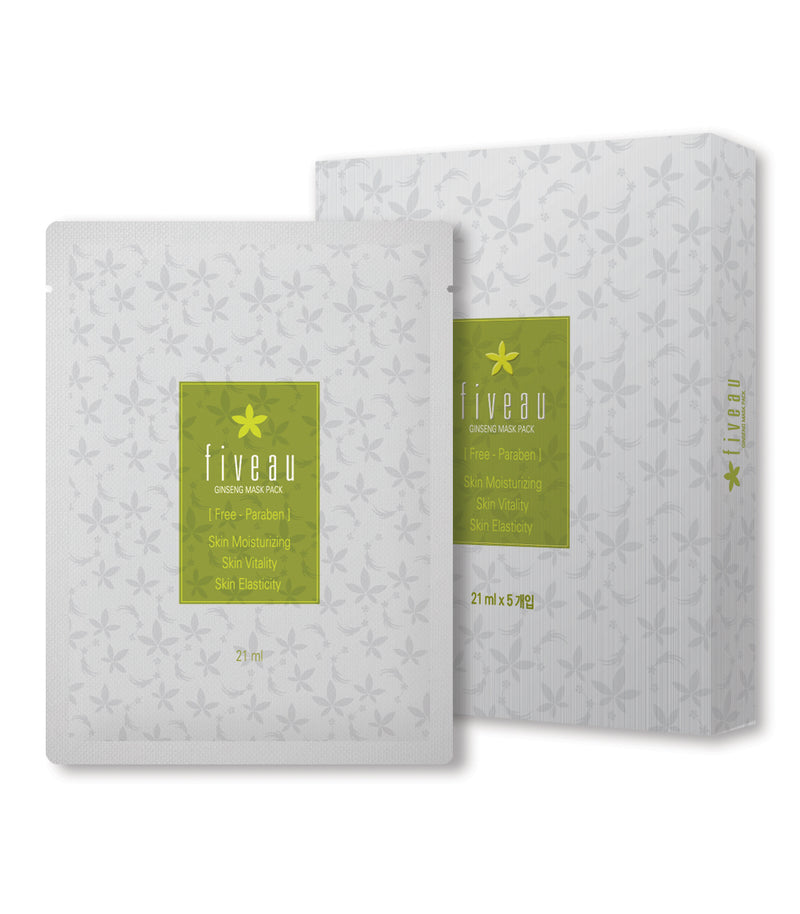 CFDA Fiveau Ginseng Mask Sheets - Pack of 10 - Dotrade Express. Trusted Korea Manufacturers. Find the best Korean Brands