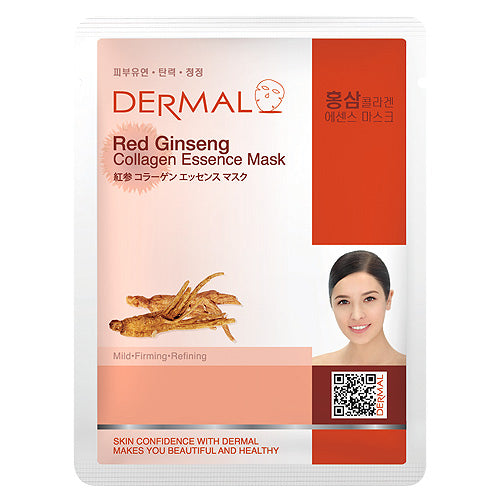 DERMAL Red Ginseng Collagen Essence Mask 10 Pieces