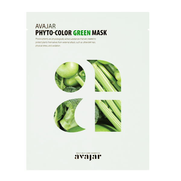 AVAJAR PHYTO-COLOR GREEN MASK (10EA) - Dotrade Express. Trusted Korea Manufacturers. Find the best Korean Brands