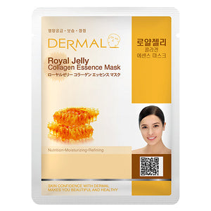 DERMAL Royal Jelly Collagen Essence Mask 10 Pieces