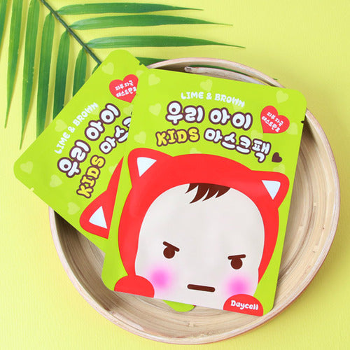 DAYCELL Lime&Brown Kids Mask Sheet - Dotrade Express. Trusted Korea Manufacturers. Find the best Korean Brands