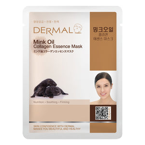DERMAL Mink Oil Collagen Essence Mask 10 Pieces