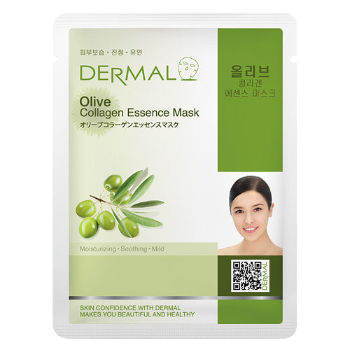 DERMAL Olive Collagen Essence Mask 10 Pieces - Dotrade Express. Trusted Korea Manufacturers. Find the best Korean Brands