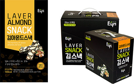 EYN Laver Almond Snack 20g - Box of 12 - Dotrade Express. Trusted Korea Manufacturers. Find the best Korean Brands